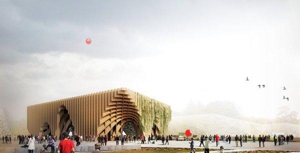 Vue d'architecte du pavillon France pour l'exposition universelle Milan 2015