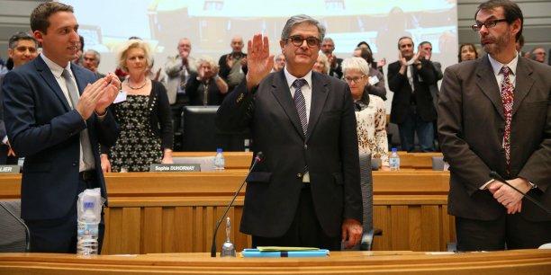 Georges Méric, lors de sa prise de fonctions au Conseil général le 2 avril dernier