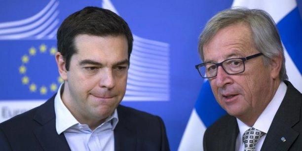 Le bras de fer continue sur les réformes grecques à mener entre Jean-Claude Juncker et le Premier ministre grec Alexis Tsipras