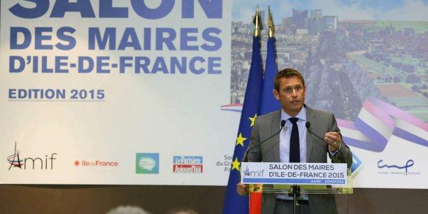 Stéphane Beaudet, lors du salon des maires d'Ile-de-France