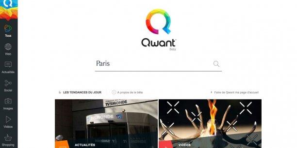 « Le moteur de recherche qui respecte votre vie privée » promet Qwant sur sa page d'accueil.