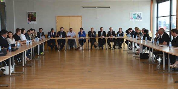 Les acteurs de la table-ronde étaient réunis au centre des affaires de l'aéroport Montpellier Méditerranée