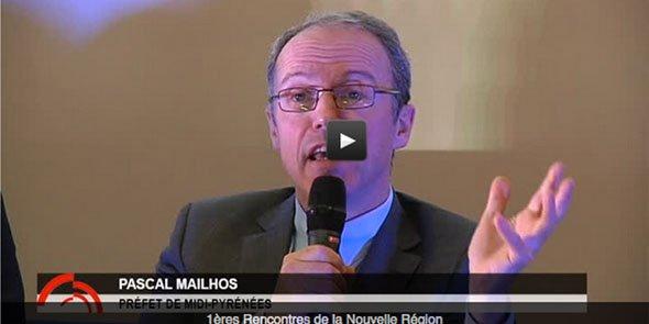 Pascal Mailhos, préfet préfigurateur de la grande région, était l'un des débatteurs