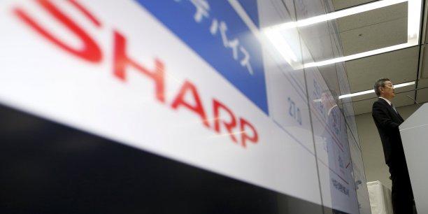 Sharp a publié une perte nette de 222,4 milliards de yens (1,63 milliard d'euros) au titre de l'exercice clos fin mars, son troisième résultat dans le rouge en quatre ans.