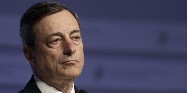Mario Draghi, président de la Banque centrale européenne: les politiques monétaires ne peuvent pas tout