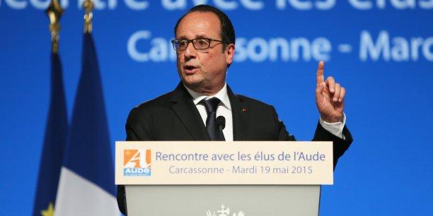 François Hollande était le 19 mai 2015 à Carcassonne, dans l'Aude.