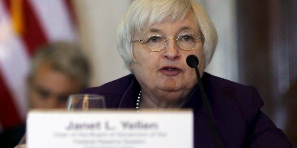 La présidente de la Fed veut éviter une surchauffe de l'économie américaine.