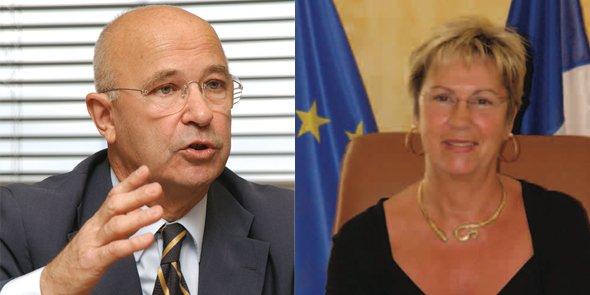 Christian Jeanjean, réélu maire à Palavas-les-Flots, et Michèle Cassar, qui affrontera une triangulaire au 2nd tour le 31 mai 2015 à Pignan.