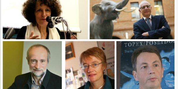 En haut: Geneviève Azam et Francis Duranthon. En bas : Serge Planton, Catherine Jeandel et Pierre-Yves le Traon. Crédits: DR et Rémi Benoit.