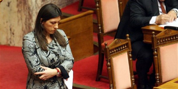 Zoé Kostantopoulou, la plus jeune présidente du parlement grec.