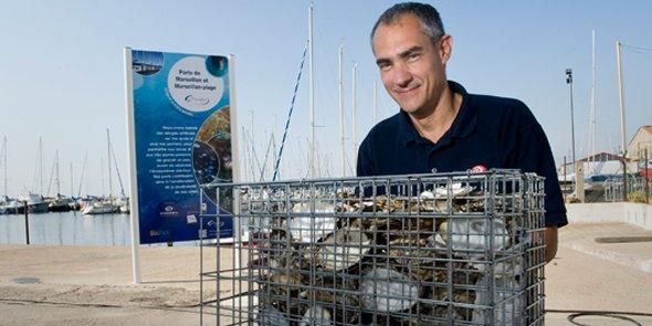 Les biohuts d'Ecocean favorisent la biodiversité dans les ports : Marseillan en a installé une centaine.
