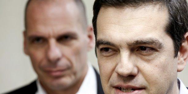 Le ministre grec des Finances, Yannis Varoufakis, et le premier ministre Alexis Tsipras