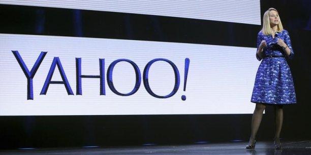 En octobre 2014, la PDG de Yahoo! ! avait annoncé la suppressions de 700 à 900 postes, la plupart aux Etats-Unis. (Photo : Marissa Mayer au CES de Las Vegas, janvier 2014)