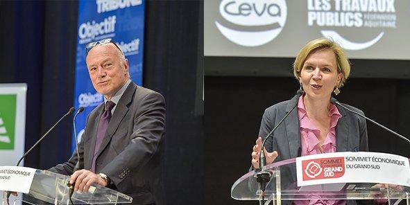 Alain Rousset, président du Conseil régional, et Virginie Calmels, adjointe au maire de Bordeaux, sont en lice pour les prochaines élections régionales des 6 et 13 décembre