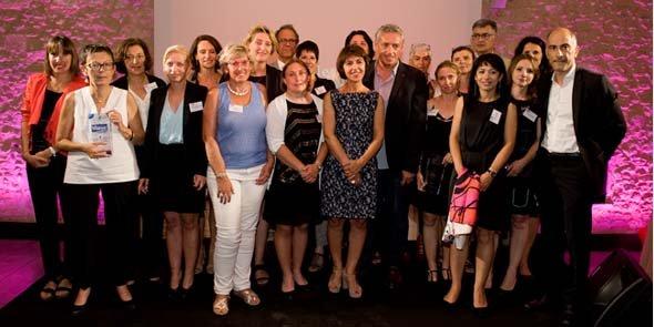 Lauréates et partenaires, réunis par Jean-Claude Gallo, directeur de la publication d'Objectif Languedoc-Roussillon.