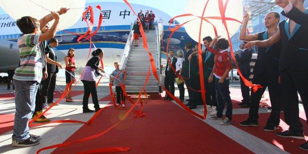 Livraison à Toulouse, en 2011, du premier A380 de la compagnie China Southern