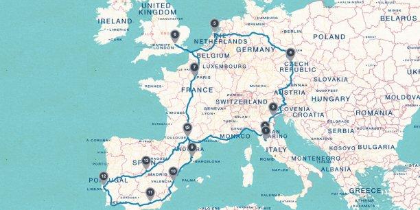 Le tour d'Europe des villes de l'innovation passera par Amsterdam, Londres, Paris, Madrid et Lisbonne.