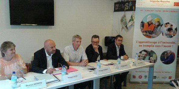Les principaux acteurs d'EnSUp-LR ont officiellement lancé le CFA vendredi 19 juin.