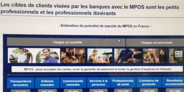 Le mPOS, un marché dont la cible est de 800.000 professionels en France, selon le cabinet Exton Consulting.