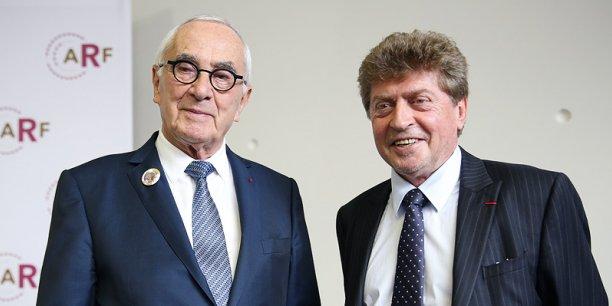 Le président de Midi-Pyrénées Martin Malvy et Damien Alary, président de Languedoc-Roussillon.