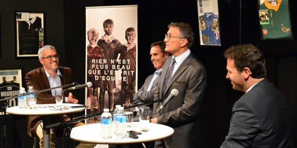 Guy Novès a répondu aux questions de Raphaël Lemaire (BGH), Jérôme Marfaing-Didier (Decker Associés) et Franck Beasse (Société Générale)