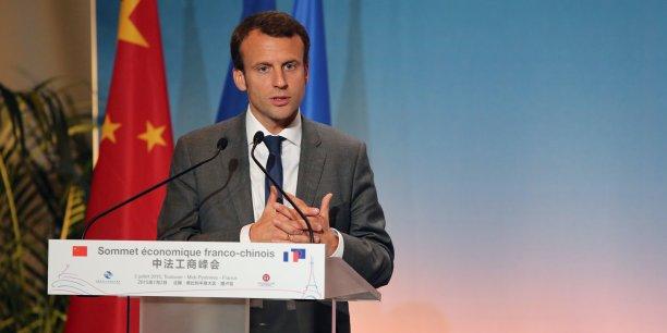 Le ministre de l'Economie Manuel Macron a assisté à la clôture du sommet