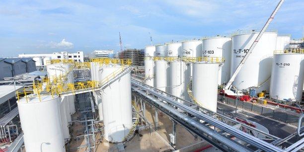 La nouvelle usine ultramoderne de fabrication de lubrifiants de Total à Singapour produira à plein régilme quatre fois plus que les deux sites du pétrolier actuellement en service sur l'Ile-Etat