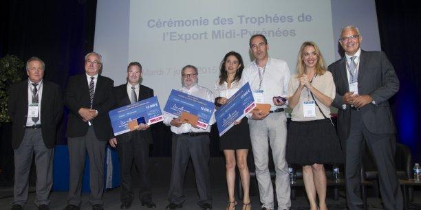 Les lauréats des trophées de l'export.