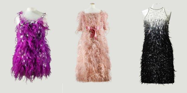 Trois pièces de la collection de Didier Ludot mise en vente le 8 juillet par la maison Sotheby's : Paco Rabanne, Balanciaga et Yves Saint-Laurent
