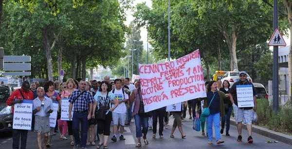 Manifestation des salariés de Cenntro Motors à Lyon l'été dernier