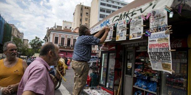 Notre stock de papier ne durera pas indéfiniment. D'ici quelques jours, il ne sera plus possible d'obtenir un nouvel arrivage pouvait-on lire dans le journal grec Ta Nea.