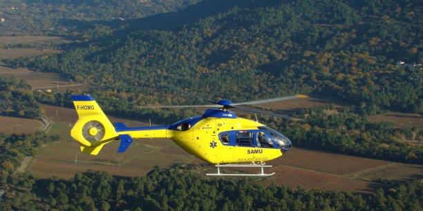 Un hélicoptère de la sécurité civile de la région Paca