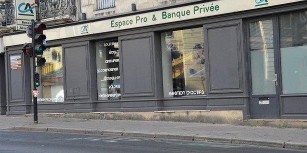 Un des 18 espaces pro et banque privée du Crédit agricole d'Aquitaine