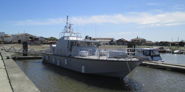 Un patrouilleur fabriqué pour le Yémen par le chantier naval Couach basé à Arcachon.