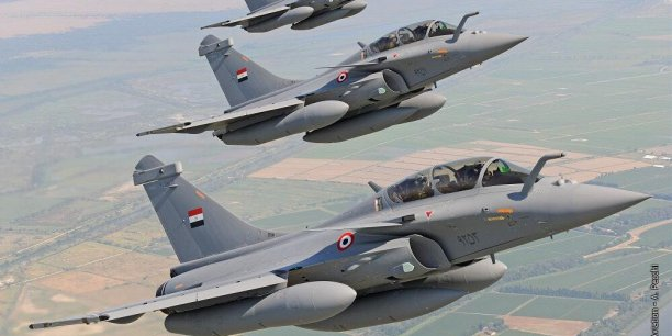 Dassault Aviation livre trois Rafale à l'Egypte à Istres