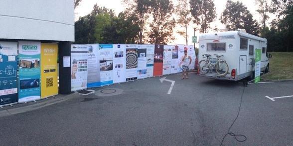 Le camping-car de l'Innovation City Tour au départ de Labège, à l'IoT Valley.