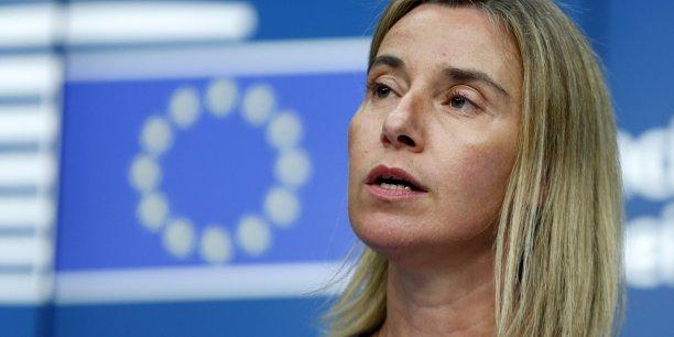 Aujourd'hui, l'UE par la voix de tous les Etats membres, a exprimé unanimement son plus fort soutien et sa disposition à apporter l'assistance requise, a indiqué Mme Mogherini, la chef de la diplomatie européenne.