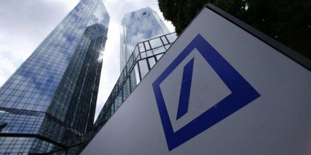 Fondée en 1870 en Allemagne, Deutsche Bank est maintenant présente dans 70 pays et active sur toute la chaîne de valeur de la banque.