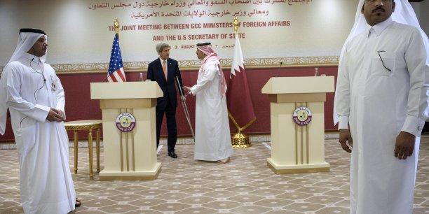 Nous sommes tombés d'accord pour accélérer certaines ventes d'armes qui sont nécessaires et qui ont pris trop de temps par le passé, a déclaré John Kerry lors d'une conférence de presse au Qatar.
