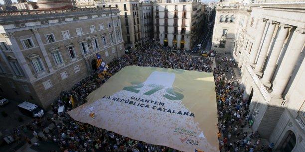 Manifestation pour l'indépendance à Barcelone
