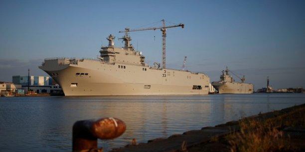 Le coût pour la France du renoncement à la vente du Mistral à la Russie pourrait lui coûter 2 milliards d'euros.