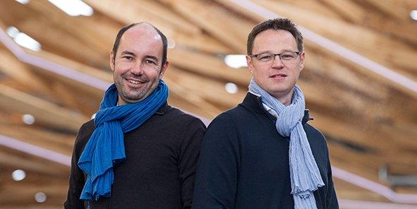 Benoît Droulin et Greg Lefort, cofondateurs d'Azendoo