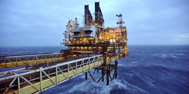 Une plate-forme d'exploitation pétrolière de BP en Mer du Nord.