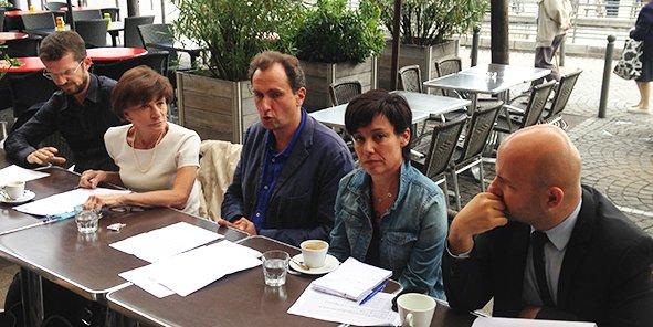 Nicolas Guenro, Michèle Delaunay, Vincent Feltesse, Emmanuelle Ajon et Matthieu Rouveyre