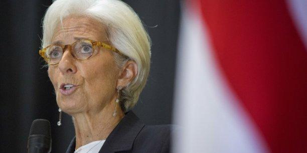 Les effacements de créances dans les banques européennes sont bien plus faibles qu'aux Etats-Unis, affirme l'institution internationale dirigée par Christine Lagarde.