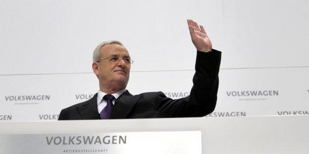 Martin Winterkorn (ici en mars 2010) avait affirmé lors de l'annonce de sa démission, mercredi 23 septembre, ne s'être rendu coupable d'aucun manquement, mais dit prendre la responsabilité du scandale.
