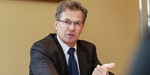 Jean-François Clédel,  le PDG d'Ingéliance et président de la CCI de Nouvelle-Aquitaine. prévoit de recruter 40 personnes à Bordeaux, 25 à Angoulême et 25 à Poitiers.