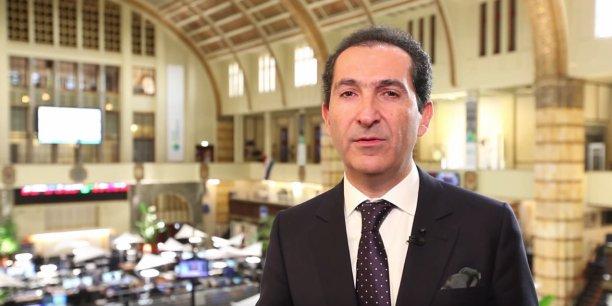 Patrick Drahi lors de l'introduction d'Altice en février 2014 à la Bourse d'Amsterdam