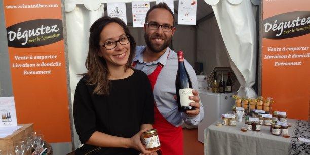 Les deux entrepreneurs ont présenté leur concept aux visiteurs de la Foire du Dauphiné, qui se déroulait jusqu'à dimanche à Romans-sur-Isère (Drôme).