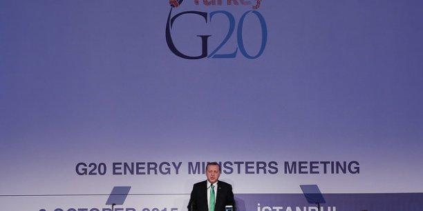 La politique énergétique doit être définie à travers les énergies renouvelables et la sécurité énergétique, a assuré Recep Tayyip Erdogan, le président turc, devant les ministres de l'énergie réunis à Istanbul pour le G20.